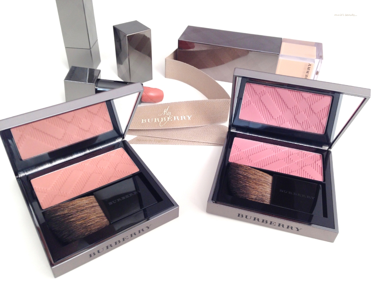 BURBERRY Light Glow in #02 Cameo and #06 Tangerine, two beautiful blushes for autumn