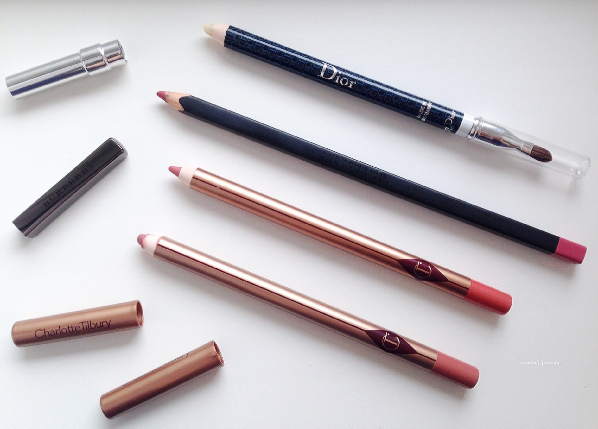 Current favourite lip liners: CHARLOTTE TILBURY Pillowtalk and Pink Venus, BURBERRY #02 Dusty Rose and DIOR Universal Lip Liner