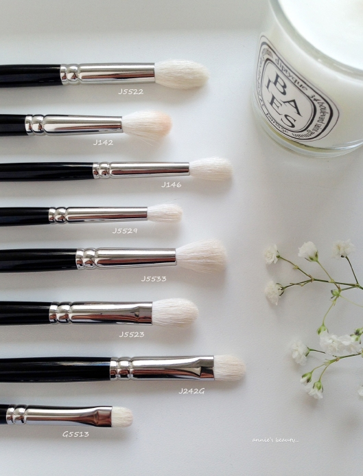 annie's beauty... HAKUHODO eyeshadow brush