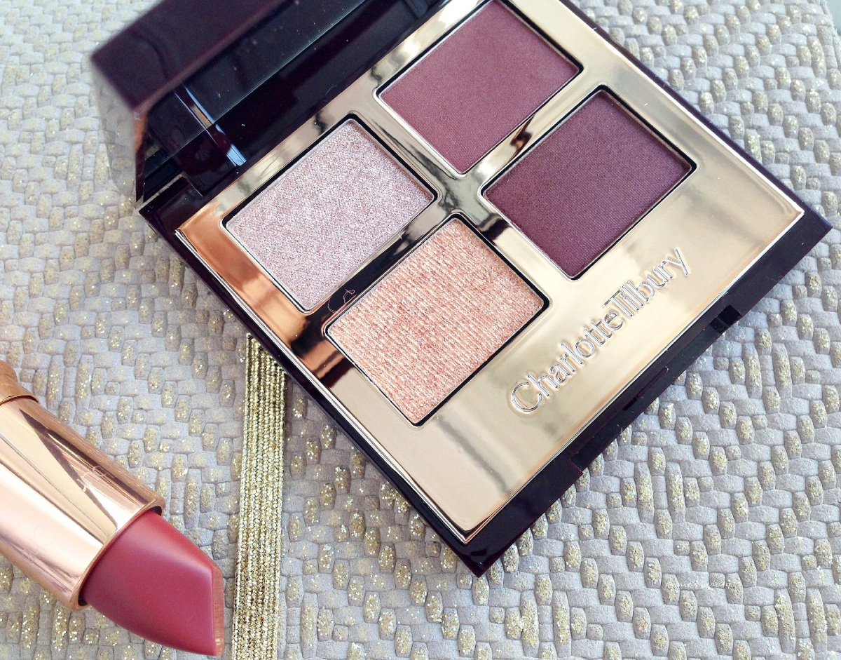 "CHARLOTTE TILBURY's makeup for ""vamps""... The Vintage Vamp Eyeshadow Palette"