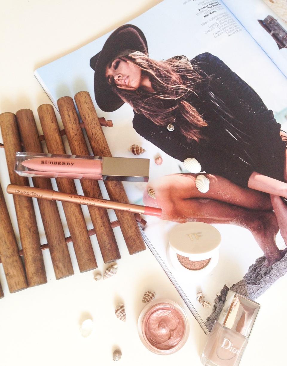 Loving Nudes #8: a FOTD feat. CHARLOTTE TILBURY Lip Cheat Lip Liner in Pink Venus & BURBERRY Lip Glow No.9 Nude Beige anniesbeautyblog4