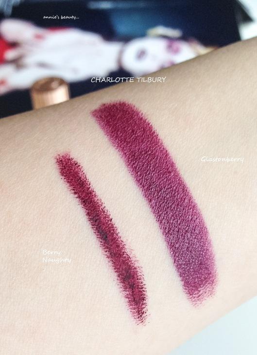 Charlotte Tilbury Glastonberry lipstick swatch anniesbeautyblog